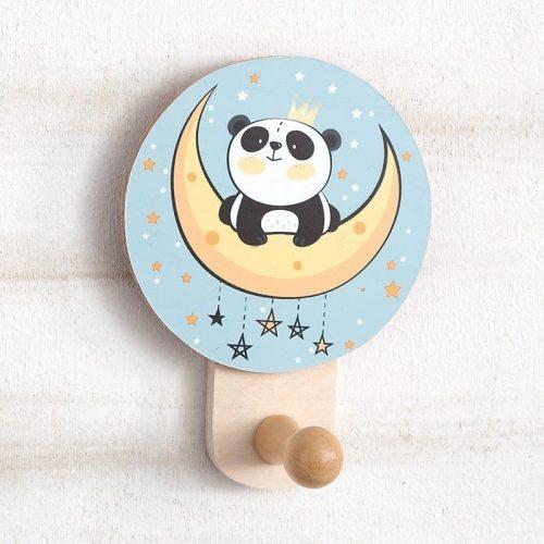 μπομπονιέρα ξύλινη-κρεμάστρα-τοίχου-panda